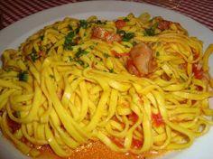 Tagliatelle+al+baccalà+primo+piatto+veloce+risparmioso+gustoso