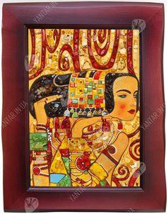 Панно «Ожидание» (Густав Климт) – картина, наполненная символами от производителя ТМ Янтарь Полесья