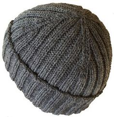 "Free knit pattern - Two by Two by Anne G. Because of the ribbing, the hat will fit a size 21/22"" head and stretch to a 23/24"" head with changes to the length before crown."