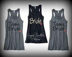 7 Personalized Bridesmaid Racerback Tank Tops, Team Bride Shirts, Bachelorette Party Tank Tops, Maid of Honor Shirt, Bride Tank Top
