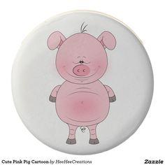 Cute Pink Pig Cartoon