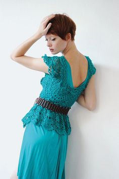 #Inspiration: Crocheted blouse  Crochet Jacket #2dayslook #CrochetfashionJacket  www.2dayslook.com