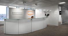 Recepção nos escritórios da Robert Walters em Bruxelas, Bélgica