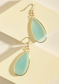 Droplet in the Ocean Earrings.  #blue #modcloth