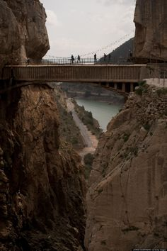 Caminito del Rey (SPAIN) :: Thrill-seekers who really want to walk on the wild side need to head to southern Spain ASAP. There, in the village of El Chorro, they will find Caminito del Rey, aka 'the world's most dangerous walkway.'