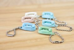 Vintage Princess phone keychains!  So cute, I remember using them as phones for my Barbies!.