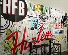 Harlem Food Bar mural on display for passerby's
