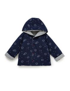 M&S Pure Cotton Hooded Reversible Jacket