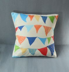 Nursery circus pillow fun colourful bedroom cushion