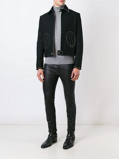 Saint Laurent スタッズ装飾ショートジャケット