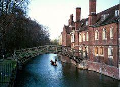 Cambridge, England (The mathematical bridge at Queens College) Cambridge England, England Uk, Norman Castle, Queen's College, Uk Trip, Travel Uk, Cambridge University, European Travel, Amazing Places