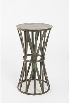 Iron Strap Side Table Small Tables Outdoor Living Room End