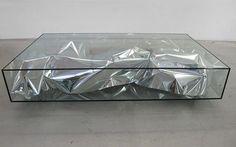 Silver crush table by Patrik Fredrikson