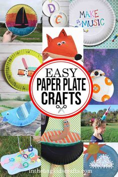 EASY PAPER PLATE CRAFTS This easy DIY kids' crafts can be found at inthebagkidscrafts.com, where every project is made from the same master list of craft supplies that fit into one bag.  This unique approach to crafting with your kids makes it actually do-able for real life, minimizing the stress, prep time and mess usually involved with kids' crafts. #paperplatecraftsforkids #easycraftsforkids #diykidscrafts Diy Crafts For Kids Easy, Paper Plate Crafts For Kids, Animal Crafts For Kids, Summer Crafts For Kids, Craft Projects For Kids, Paper Crafts For Kids, Craft Activities For Kids, Toddler Crafts, Preschool Crafts