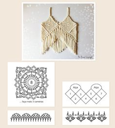 Marcela Leite's media content and analytics Crochet Vest Pattern, Crochet Diagram, Crochet Motif, Crochet Patterns, Crochet Summer Tops, Crochet Halter Tops, Crochet Blouse, Purse Patterns Free, Crochet Cord