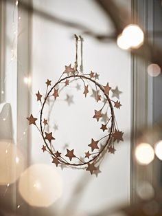 NEW Rusty Starry Wreath - Wreaths and Garlands - Christmas Hygge Christmas, Christmas Love, Country Christmas, Winter Christmas, All Things Christmas, Christmas Wreaths, Christmas Crafts, Wreaths And Garlands, Rustic Wreaths
