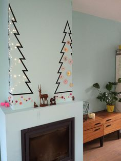 Alternatief v kerstboom; washi tape!