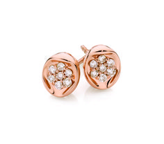9ct Rose Gold 0 20ct Diamond Stud Earrings With Dreamtime Australian Diamonds
