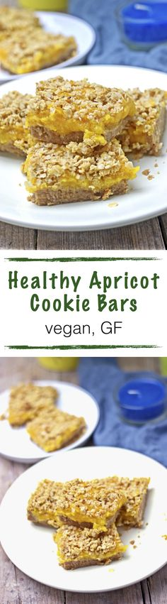 This recipe for Healthy Apricot Cookie Bars is great for every one with a sweet tooth. It's vegan and gluten free and I use only natural sweeteners to make it super healthy. Fruity, sweet, and crunchy – you can make these perfect cookie bars in only a few easy steps.