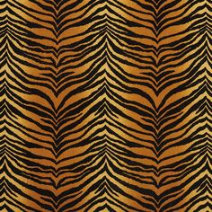 Amber Black and Gold Tiger Faux Animal  Print Microfiber Machine Washable Stain Resistant Upholstery Fabric