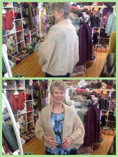 Denise finished her cardigan in Cirrus from Berroco!