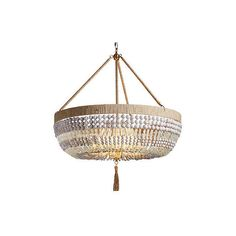 Frontgate Nola Beaded Outdoor Chandelier 4 295 Liked On Polyvore Featuring Home Outdoors