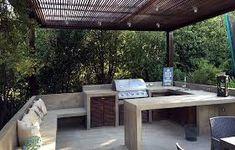 Resultado de imagen para quinchos modernos cerrados Outdoor Kitchen Patio, Outdoor Kitchen Countertops, Outdoor Kitchen Design, Patio Design, Outdoor Living, Outdoor Decor, Parrilla Exterior, Barbecue Design, Outdoor Barbeque