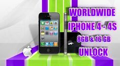 Worldwide iPhone 4|4S - 8GB|16GB Unlock Permanent Official Factory Guaranteed