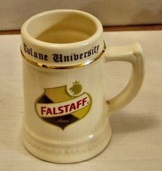 #Vintage #-falstaff beer -tulane u-ceramic #stein -ex+,  View more on the LINK: http://www.zeppy.io/product/gb/2/391237450766/