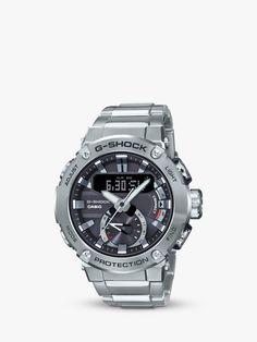 Buy Casio Men's G-Shock Bluetooth Bracelet Strap Watch, Silver/Black from our Men's Watches range at John Lewis & Partners. Amazing Watches, G Shock, Casio Watch, Wealth, Watches For Men, Bluetooth, Lights, Lifestyle, Dark
