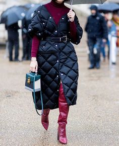 Giant sleeping bags as jackets? Now thats a trend we can get down with. via INSTYLE MAGAZINE OFFICIAL INSTAGRAM - Fashion Campaigns  Haute Couture  Advertising  Editorial Photography  Magazine Cover Designs  Supermodels  Runway Models