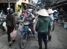 Rush Hour for the locals at the Hoi An Fish and Vegie market Vietnam Holidays, Rush Hour, Hoi An, The Locals, Cambodia, Laos, Baby Strollers, Take That, Fish