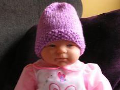 Bella Bambina Knits: Seed Stitch Brim Baby Hat