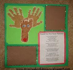 Handprint and Footprint Arts & Crafts: Christmas Handprint/Footprint/Thumbprint Art