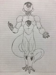 Dessin : Golden Freeza - 狩り暮らしのカカロッティ (@kaka0317mako) Twitter Drawing Cartoon Faces, Anime Drawings Sketches, Anime Sketch, Dragon Super, Ball Drawing, Spiderman Art, Fan Art, Freezers, Pasta