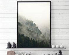 Forest Print, Scandinavian Print, Scandinavian Art, Scandinavian Modern, Scandinavian Poster, Minimalist Poster, Downloadable Art