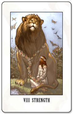 Keywords/phrases associated with the Strength tarot card:     Upright - courage, willpower, fortitude, honor, determination, optimism, self control, stamina, resilience, endurance     Reversed - giving up, failure, doubt, fear, renounce, pessimism, quit, self-indulgent, negativity, lacking self control