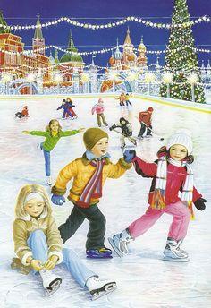 At the skating rink