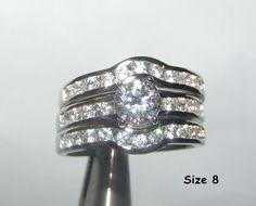 Amazing 3 Ring Wedding Set Free Shipping No Fees $35.00