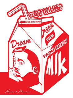 Dr. Martin Luther King Jr Postcard Got Milk Carton Civil Rights Movement Postcard African American Art Winfred Hawkins Pop Art  5 x 7 by Triburban on Etsy