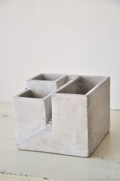 Buy and order Pots out of concrete for cacti and succulents, the Stairs, the concrete pot on Livemaster online shop. Shipped over Russia and the CIS. Dimensions: 11х15х15cm <br />