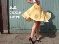 full circle skirt/ half circle skirt/ quarter circle skirt