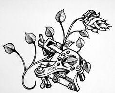 tattoo machine art design