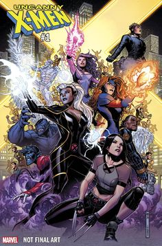 Uncanny X-Men returns as a new ongoing series in November and Marvel Comics is pumping out a bunch of variant covers for the return of the top tier X-title. We've got new ones from Jim Cheung, Joe … Anime Comics, Marvel Comics Art, Bd Comics, Marvel Dc Comics, Marvel Heroes, Marvel Characters, Comics Girls, X Men, Dead Pool
