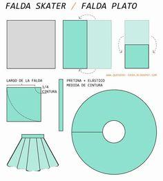 [DIY] Falda skater / falda plato - Paperblog