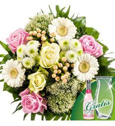überraschen Sie Ihren Partner mit rosa und weißem #Blumenstrauß