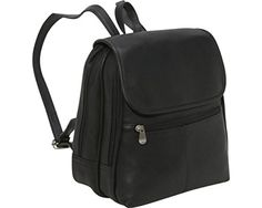 Le Donne Leather Everything Womens BackpackPurse One Size Black *** Click image for more details.