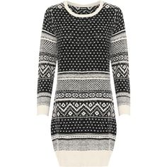 Liara Fluffy Aztec Jumper (97 BRL) ❤ liked on Polyvore featuring tops, sweaters, black, plus size, womens plus tops, long sleeve tops, womens plus sweaters, plus size party tops and plus size jumpers