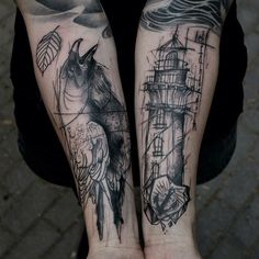The Contemporary Tattoo style of Sketch-book style Tattoos! | INKEDD