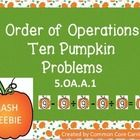 Flash Freebie This product includes ten order of operation problems. The first problem was completed as an example.   In order to make the equation...